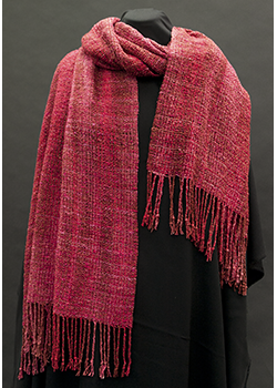 Red silk boucle shawl DJ Wrapped P8015357 001.png